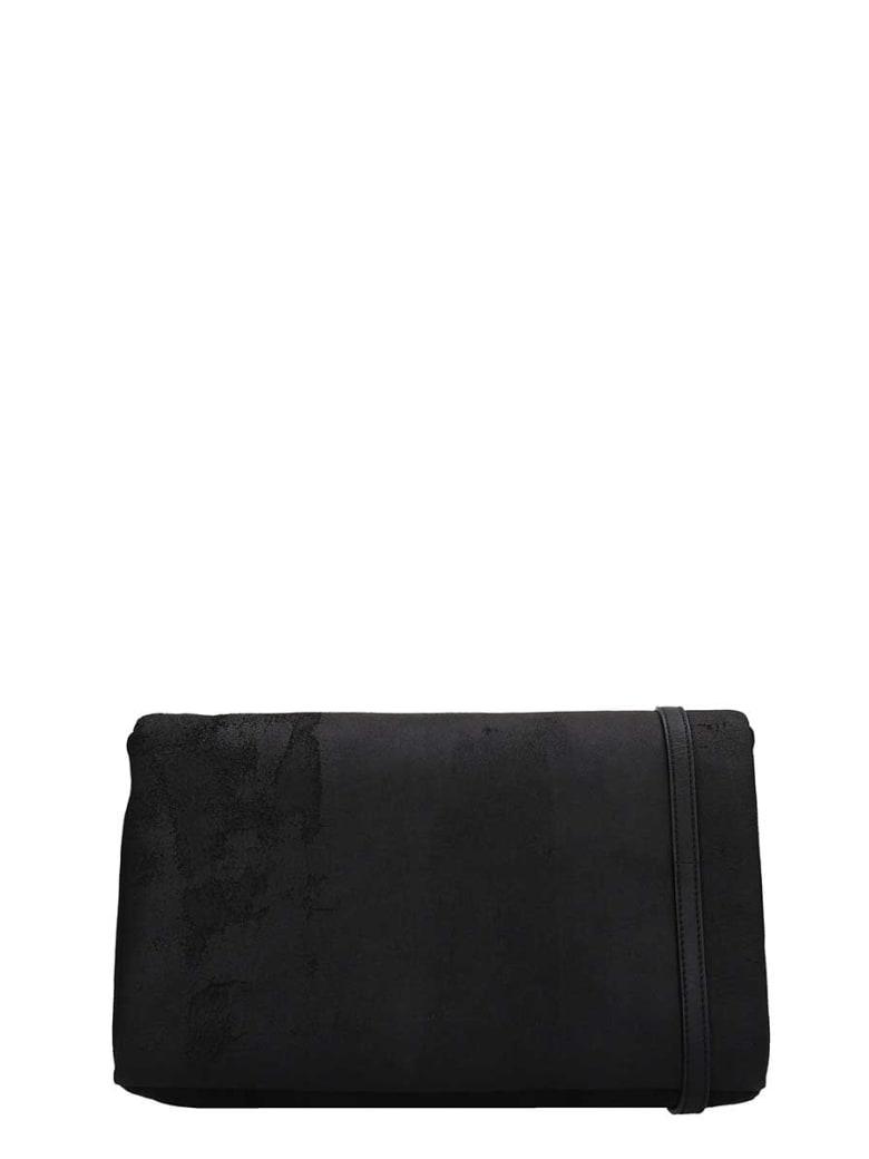 Rick Owens Black Leather Adri Med Flap Bag - black
