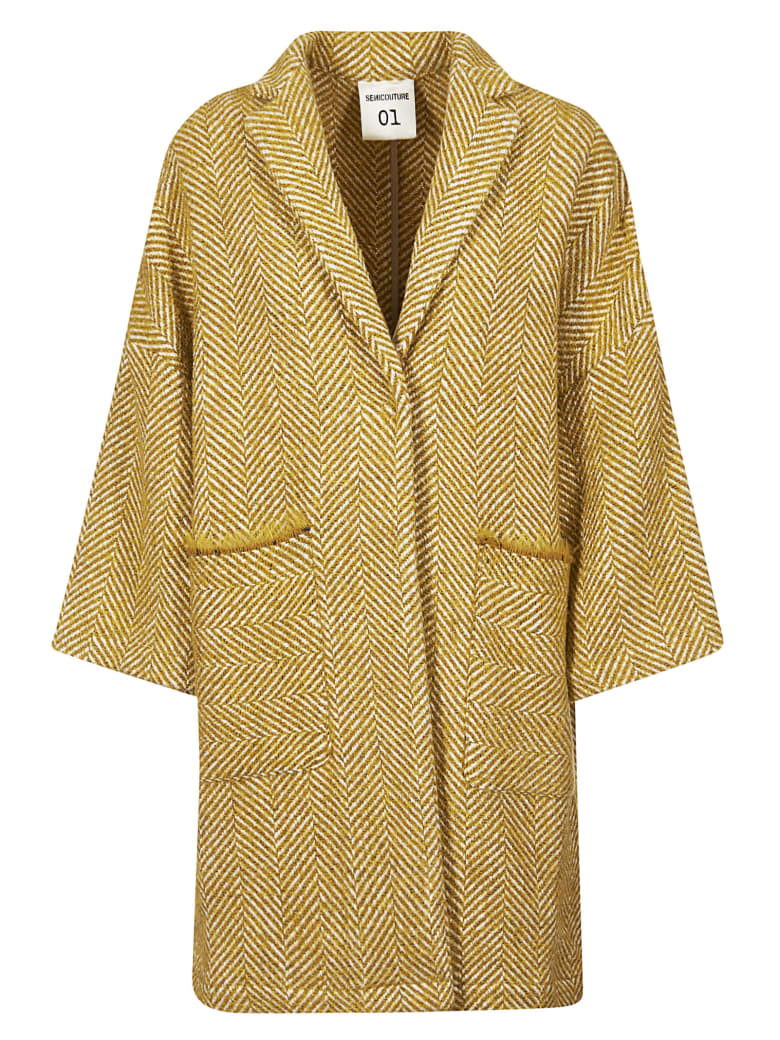 SEMICOUTURE Concealed Fastening Coat