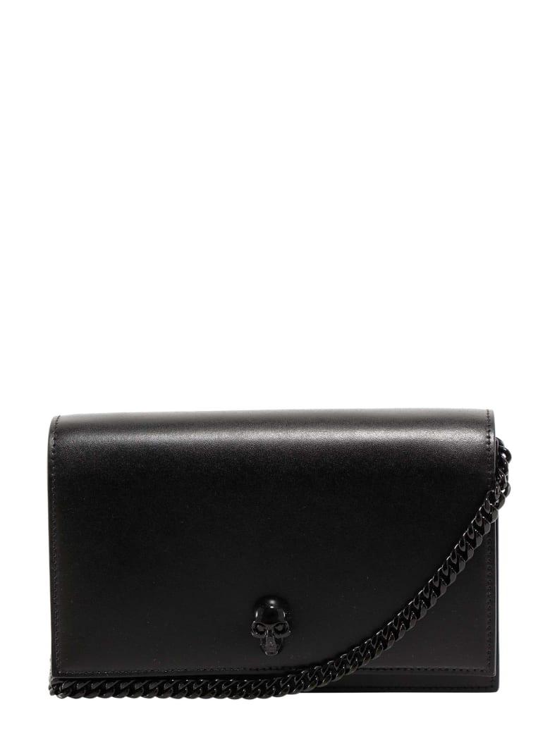 Alexander McQueen Skull Motif Crossbody Bag - Black