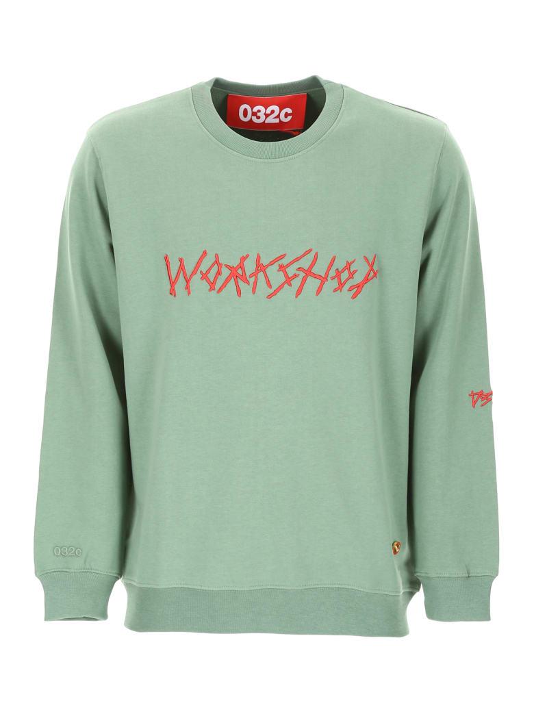 032c Workshop Sweatshirt - WASHED HUNTERS GREEN (Green)