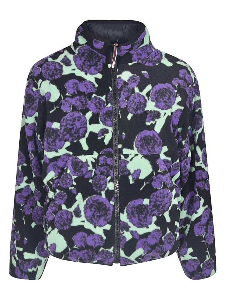 MSGM Cropped Printed Jacket - Nera