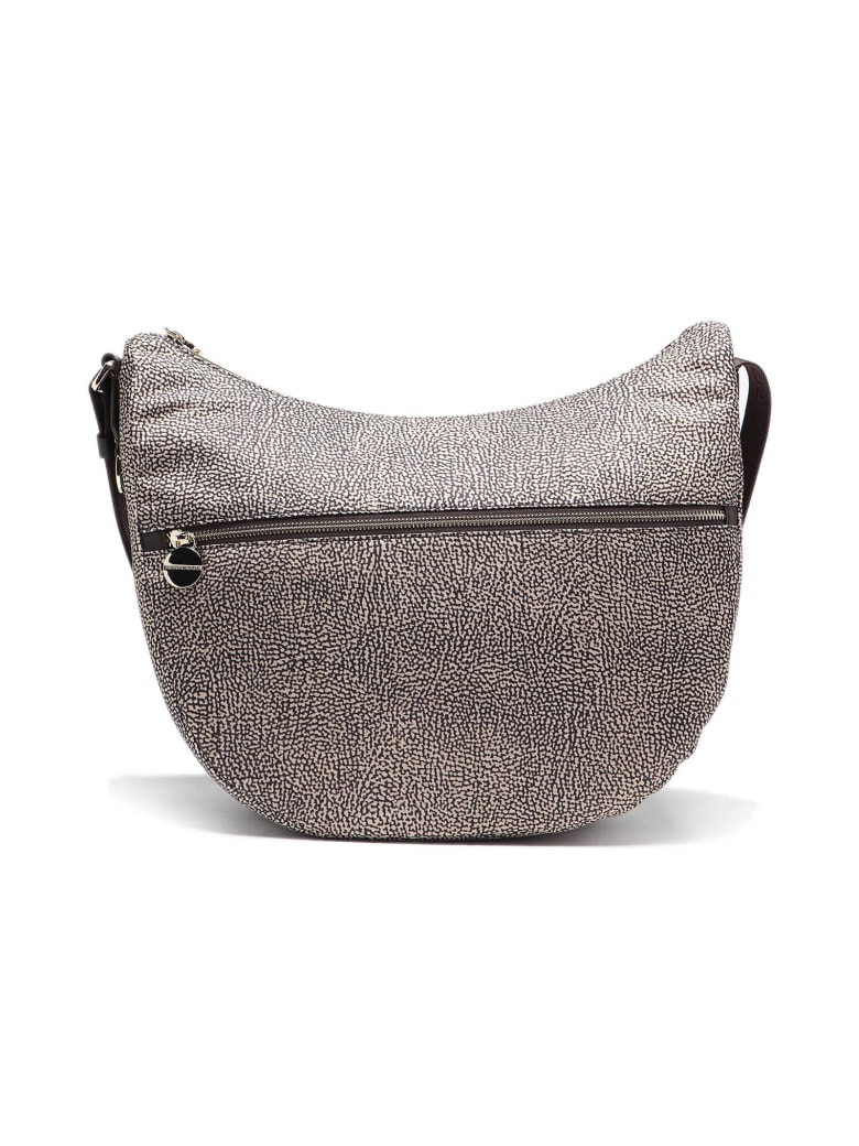 Borbonese Luna Bag Medium - Op Naturale/marrone