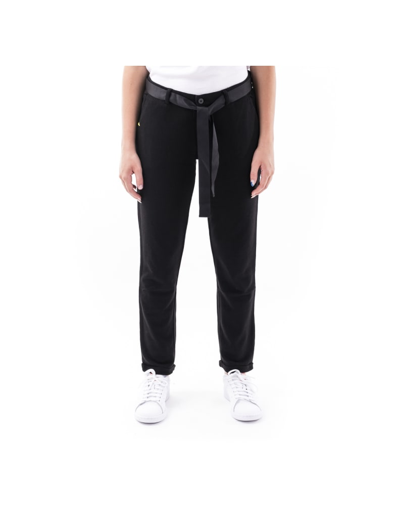 Sun 68 Sun68 Cotton Blend Trousers - BLACK
