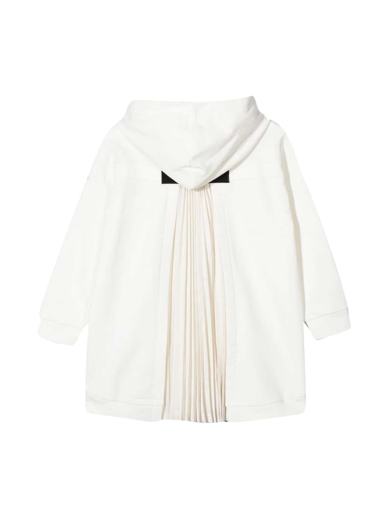 Moncler White Dress With Hood - Unica