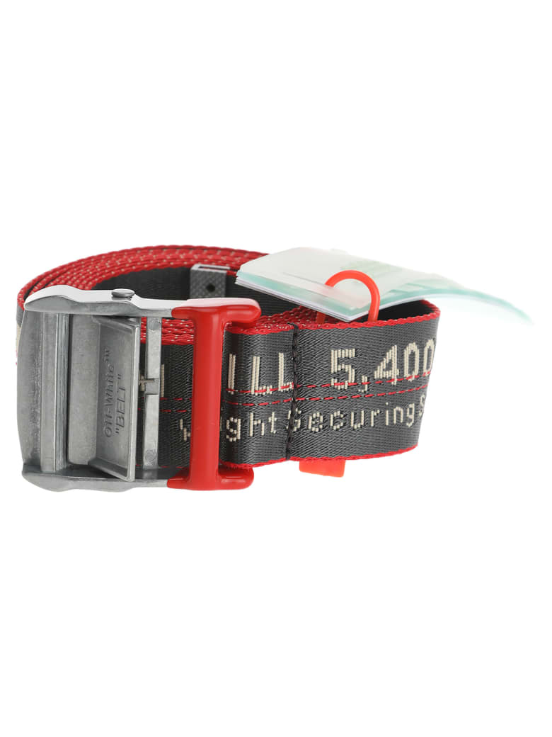 Off-White Off White Industrial Logo Belt - ANTHRACITE + RED