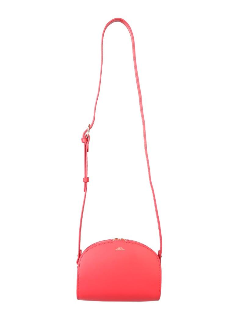 A.P.C. Mini Demi Lune Bag - ROSSO