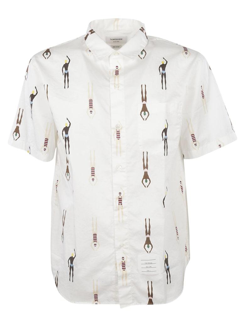 Thom Browne Swimmer Print Shirt - WHITE