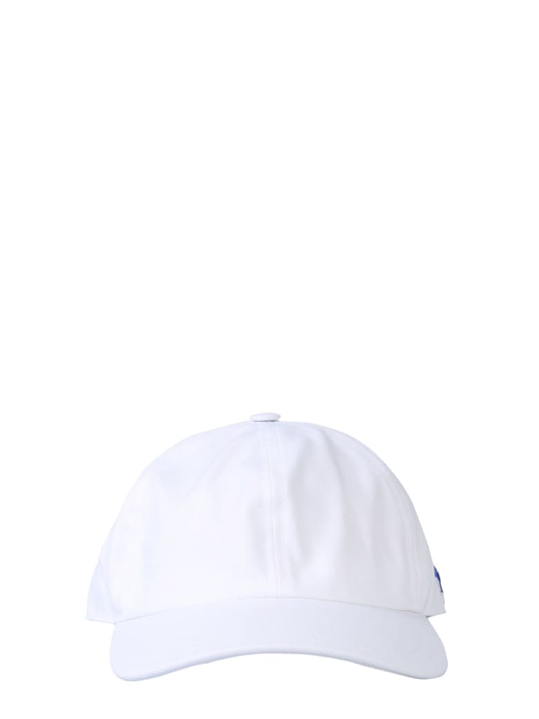 Maison Kitsuné Baseball Cap With Tricolor Fox Patch - BIANCO