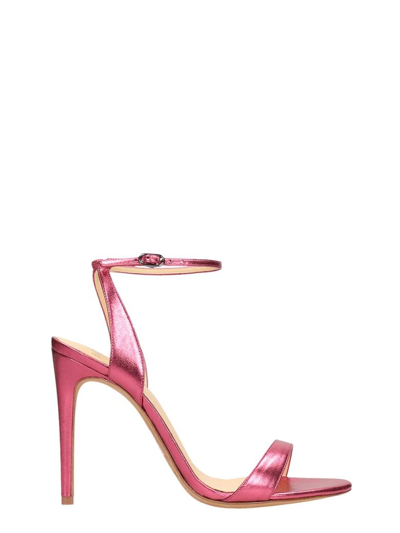 Alexandre Birman Pink Laminated  Sandals Leather - fuxia