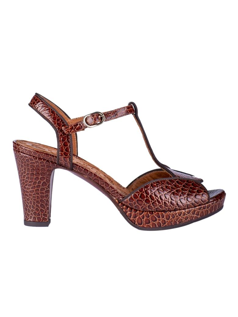 Chie Mihara Texture Block-heel Sandals - Brown