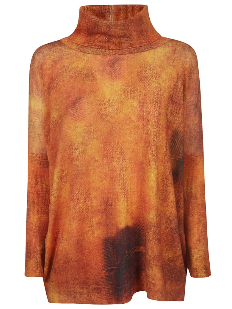 Printed Artworks Turtleneck Jumper - Orange