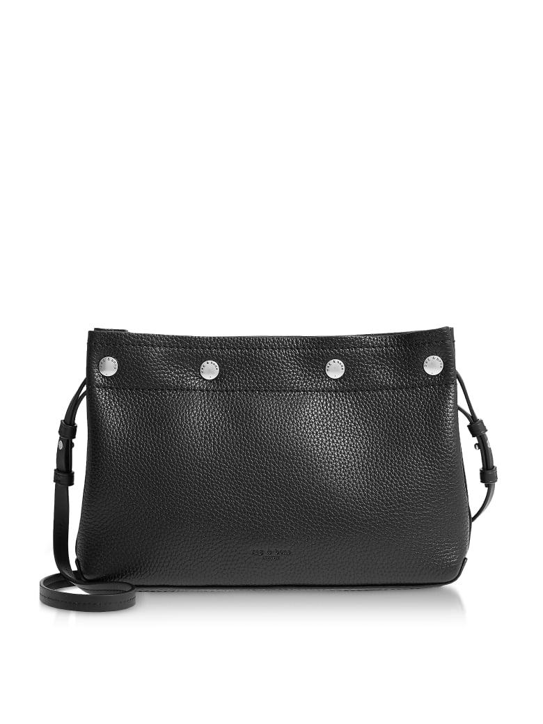 Rag & Bone Black Leather Compass Snap Crossbody Bag - Black