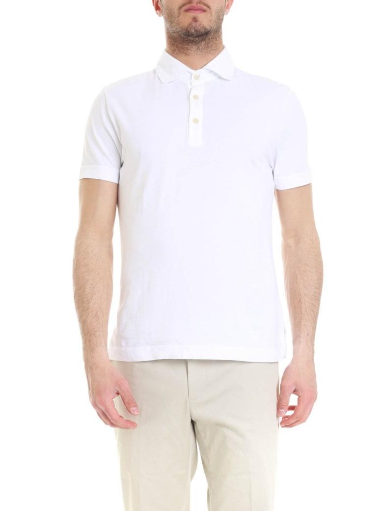 Drumohr Polo Cotton - White