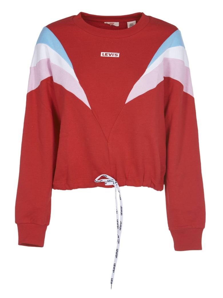 Levi's Red Color Block Sweatshirt - Red