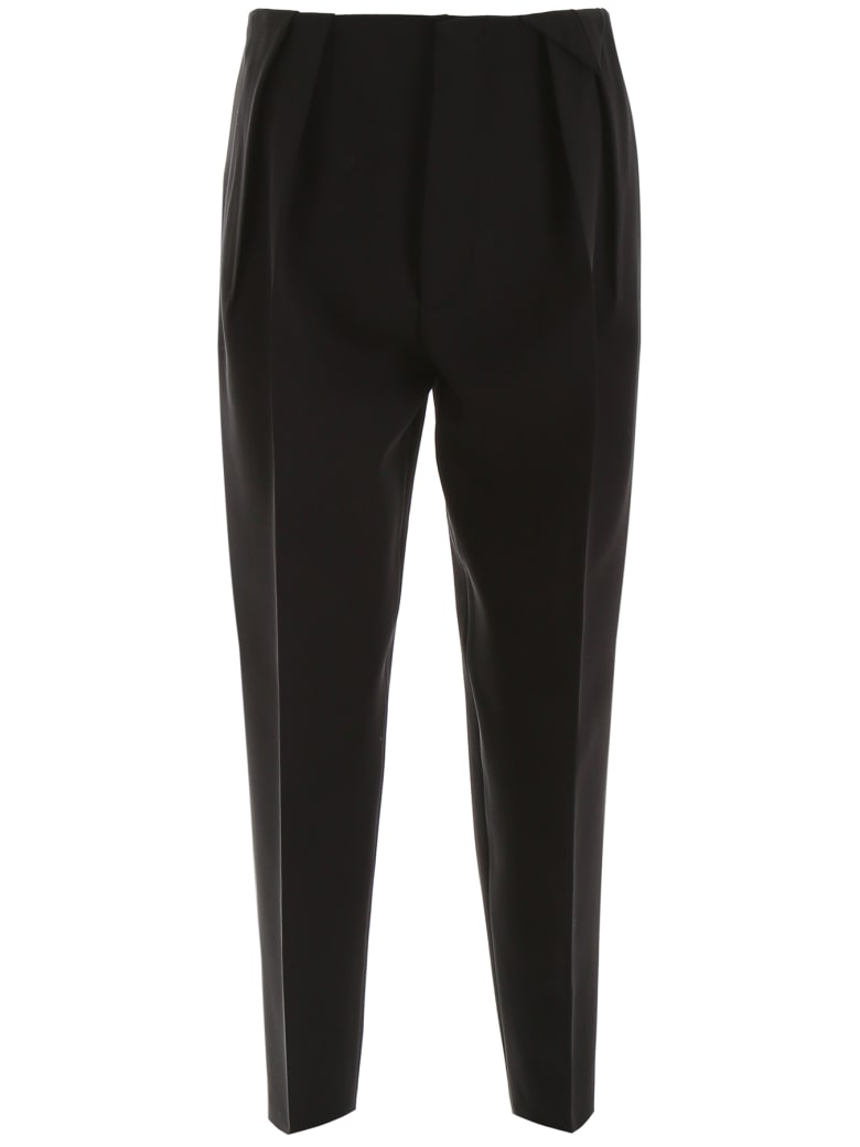 Bottega Veneta Fluid Wool Trousers - Black