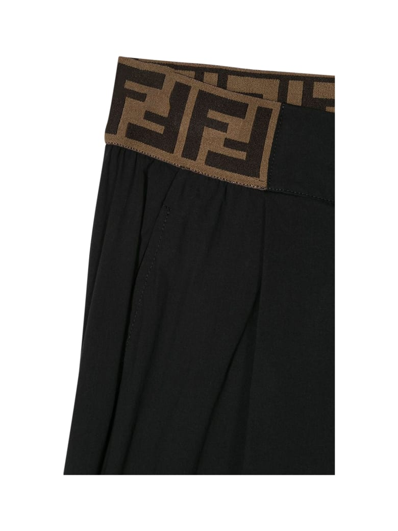Fendi Fendi Kids Pants With Ff Band - Black