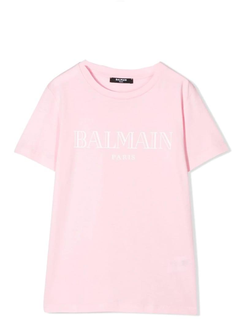 Balmain Print T-shirt - Pink