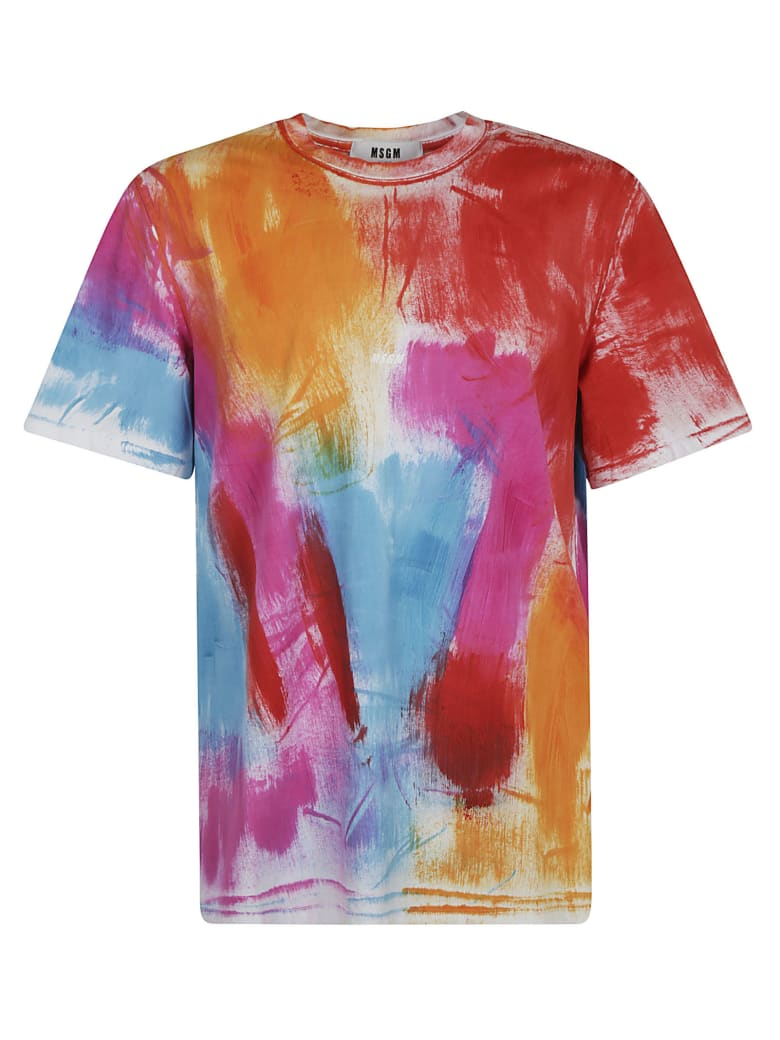 MSGM Painted T-shirt - white