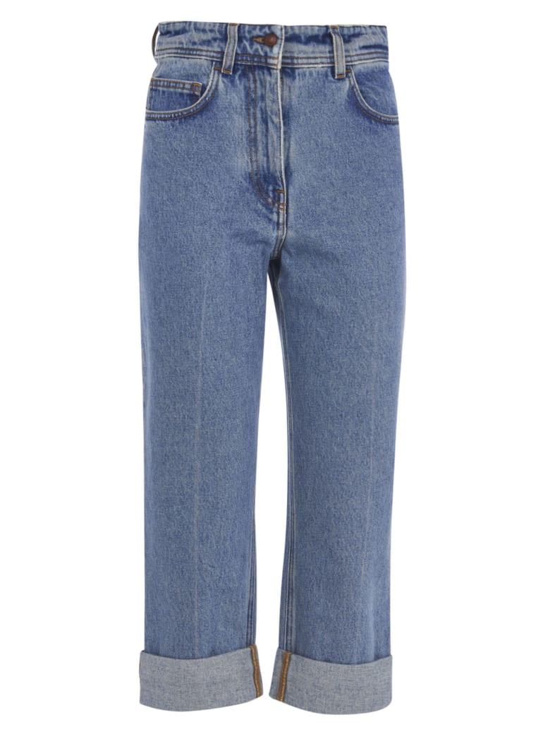 Philosophy di Lorenzo Serafini Regular Fit Cropped Jeans - Blue