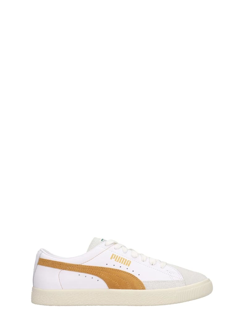sale retailer 5af5d 3fc95 Best price on the market at italist | Puma Puma Basket 90680 Sneakers In  White Suede And Leather