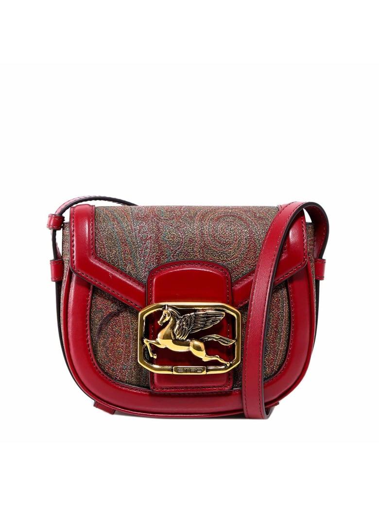 Etro Pegaso Paisley Shoulder Bag - Red