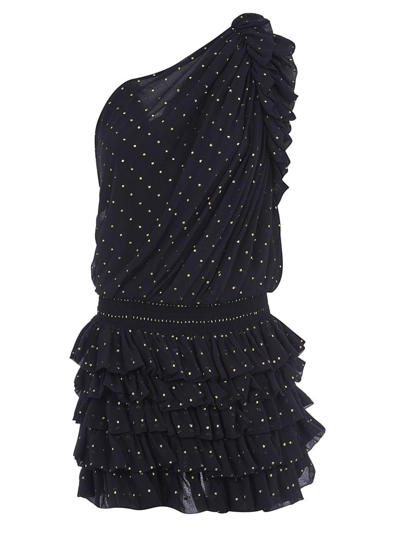 Saint Laurent One-sleeve Embellished Dress - Black