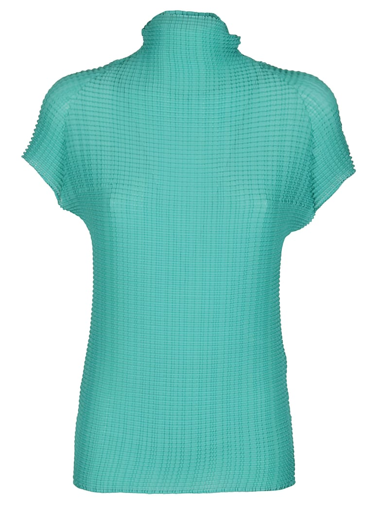 Issey Miyake Green Stretch T-shirt - Green