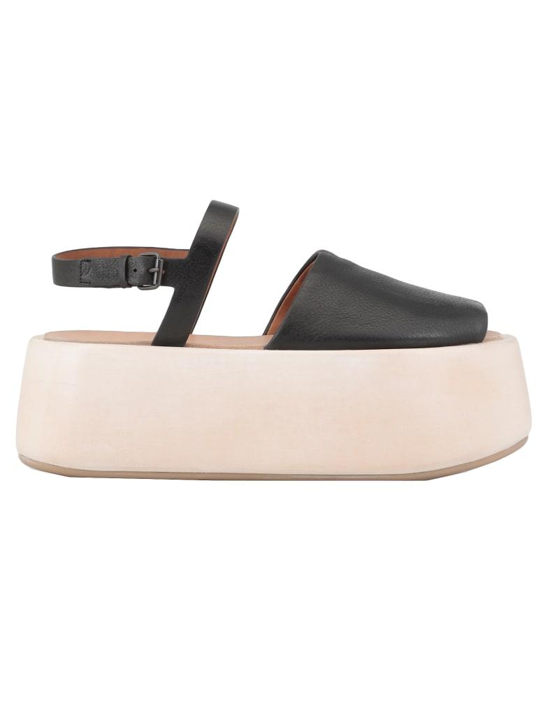 Marsell Leather Sandal - BLACK
