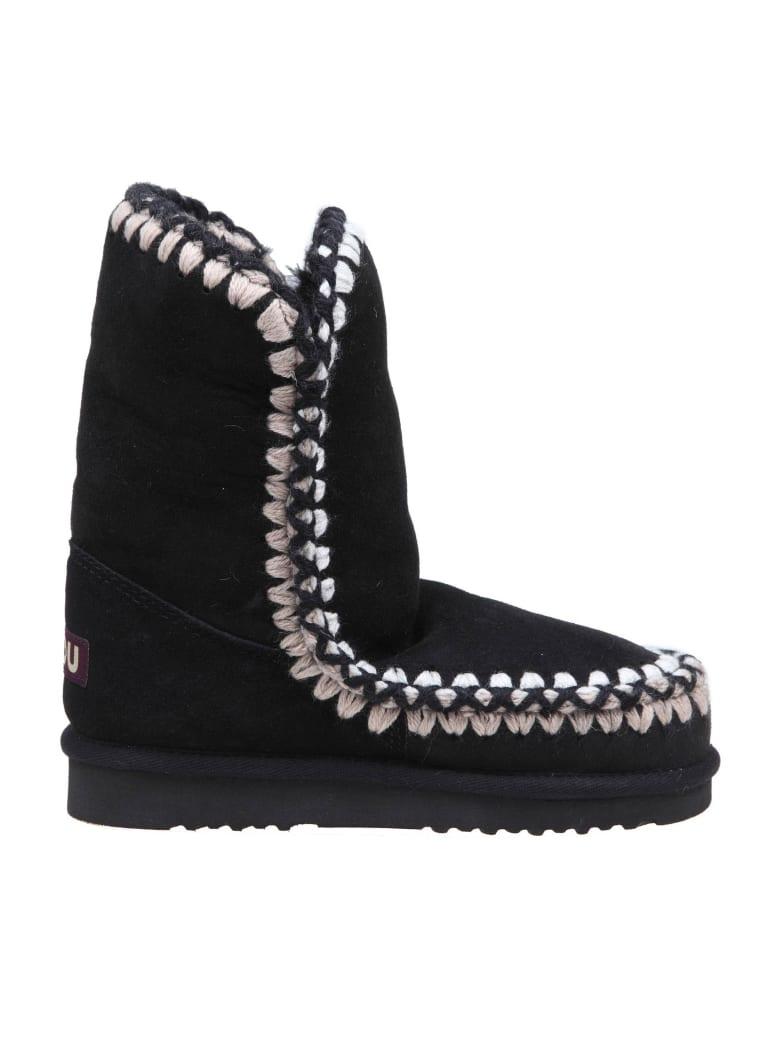 Mou Sneakers Eskimo 24 In Suede Color Black - Black