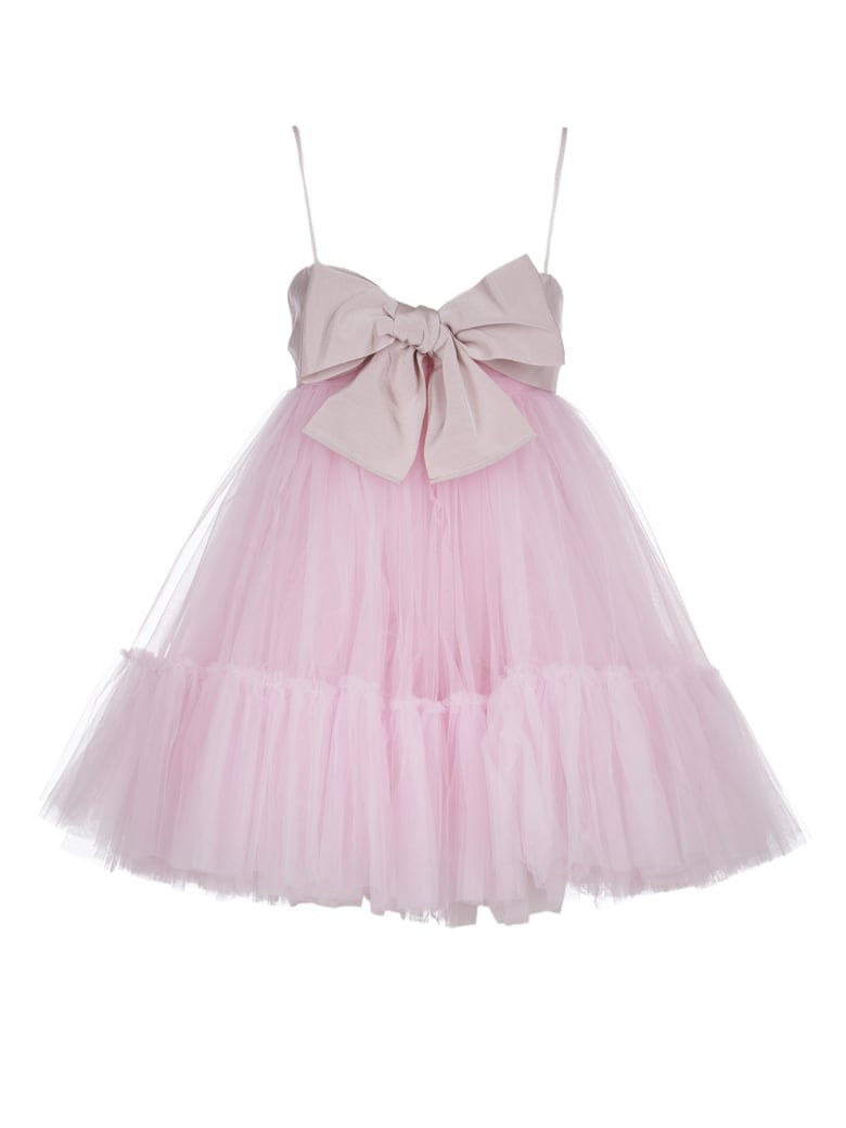 Brognano Pink Dress With Bow - Pink