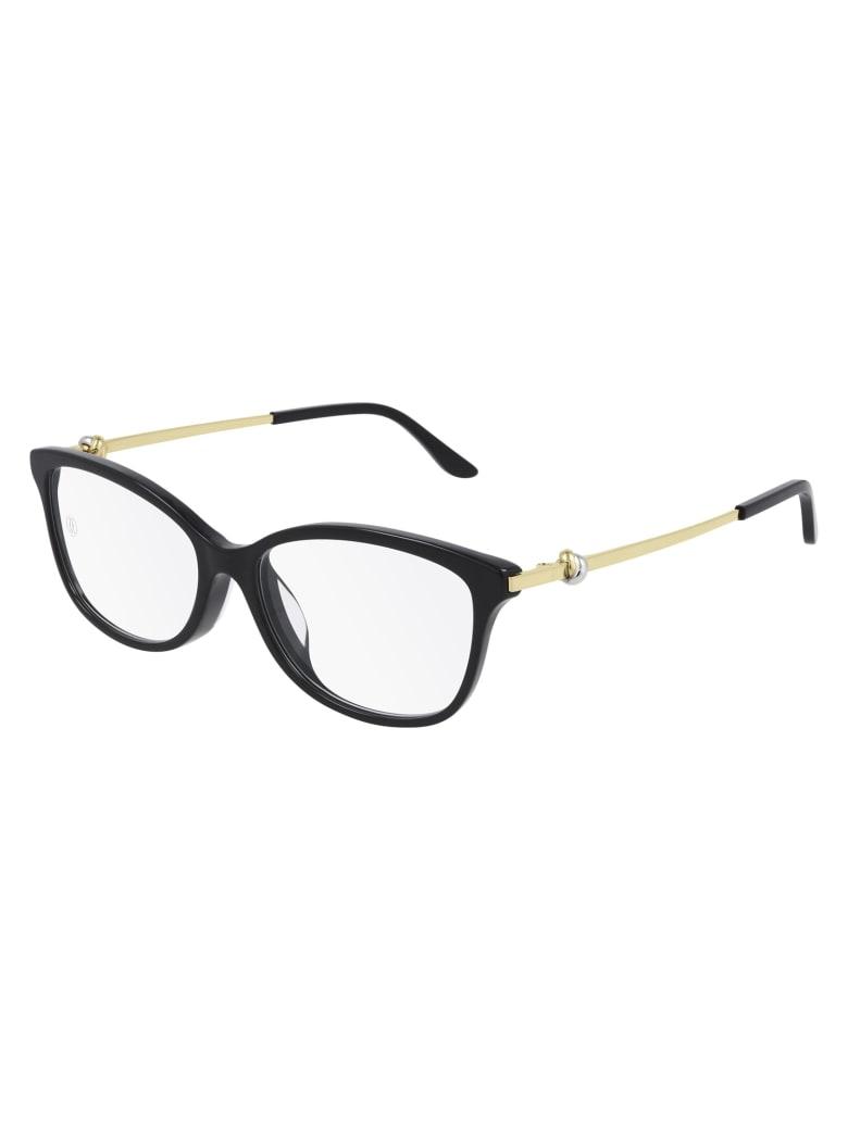 Cartier Eyewear CT0257O Eyewear - Black Gold Transparen