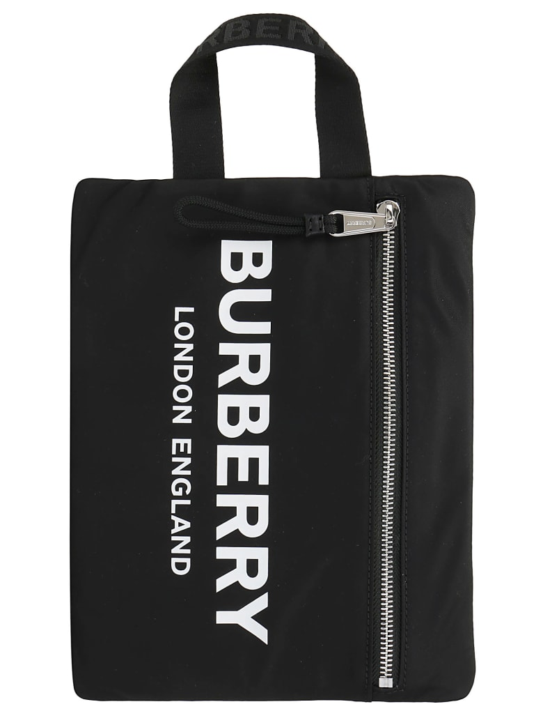 Burberry Handle Pouch - Black
