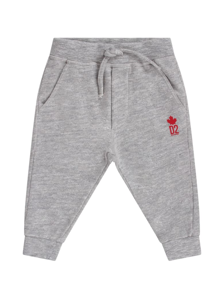 Dsquared2 Grey Babyboy Sweatpant With Red Logo - Grey