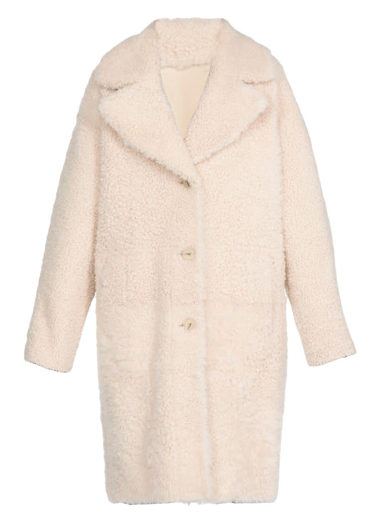 DROMe Reversible Leather Coat - NATURAL