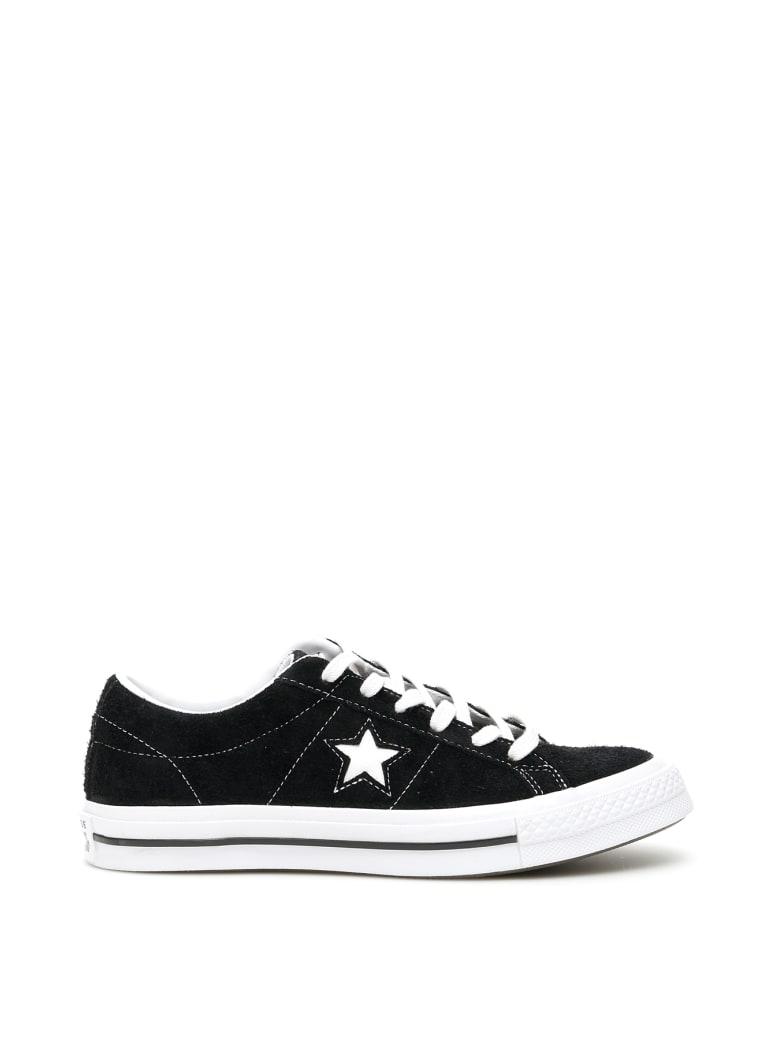 Converse One Star Sneakers - BLACK WHITE WHITE (Black)