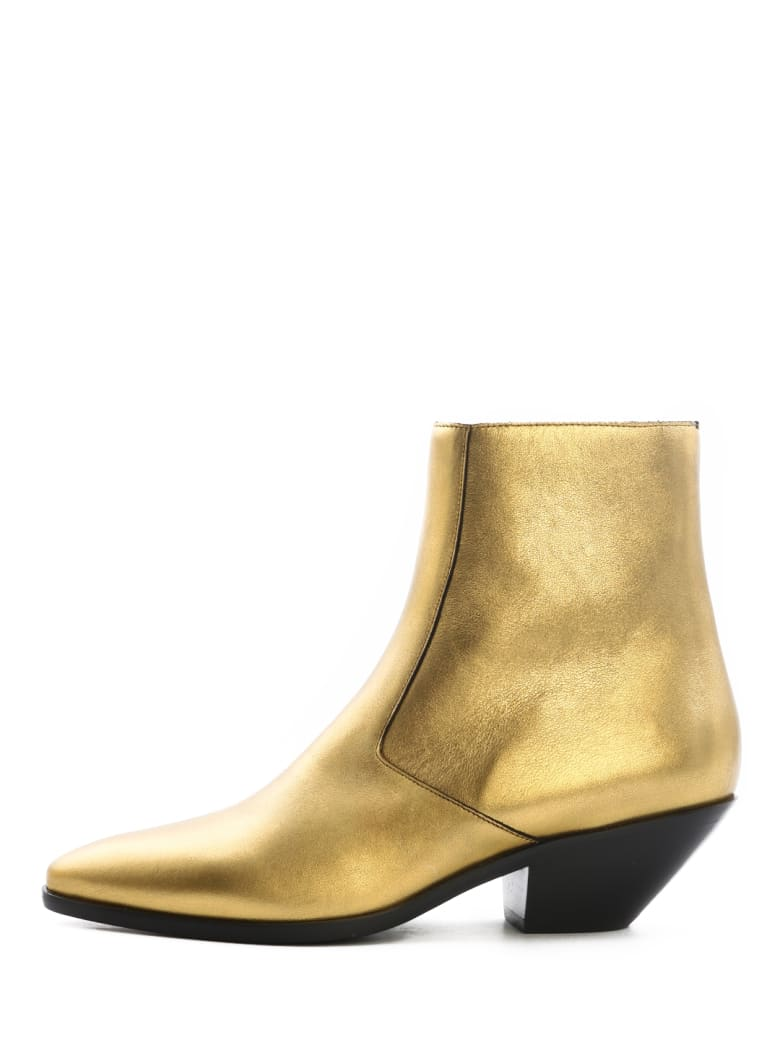 Saint Laurent Boots West 45 Gold - Gold
