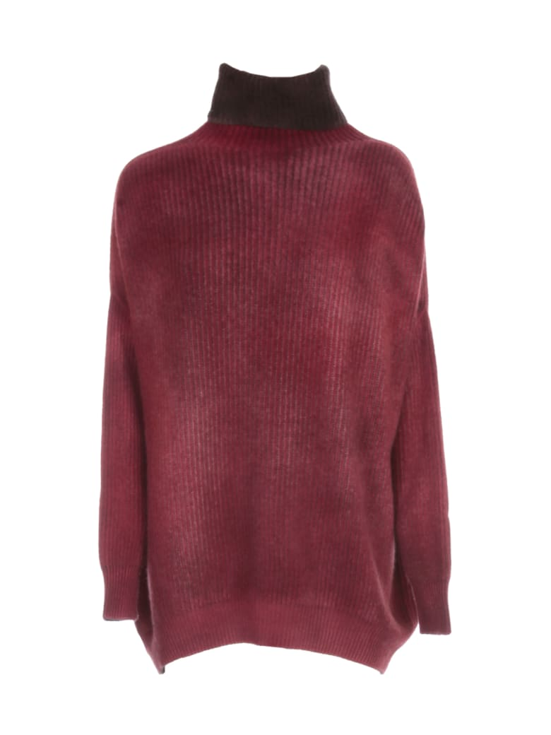 Avant Toi Oversized High Neck Bicolor Sweater - Carruba