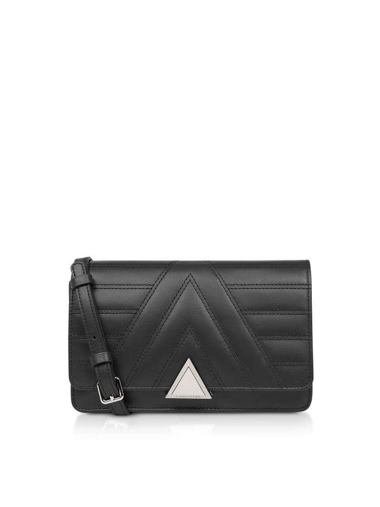 Lancaster Paris Parisienne Matelassé Quilted Leather Crossbody Bag - Black
