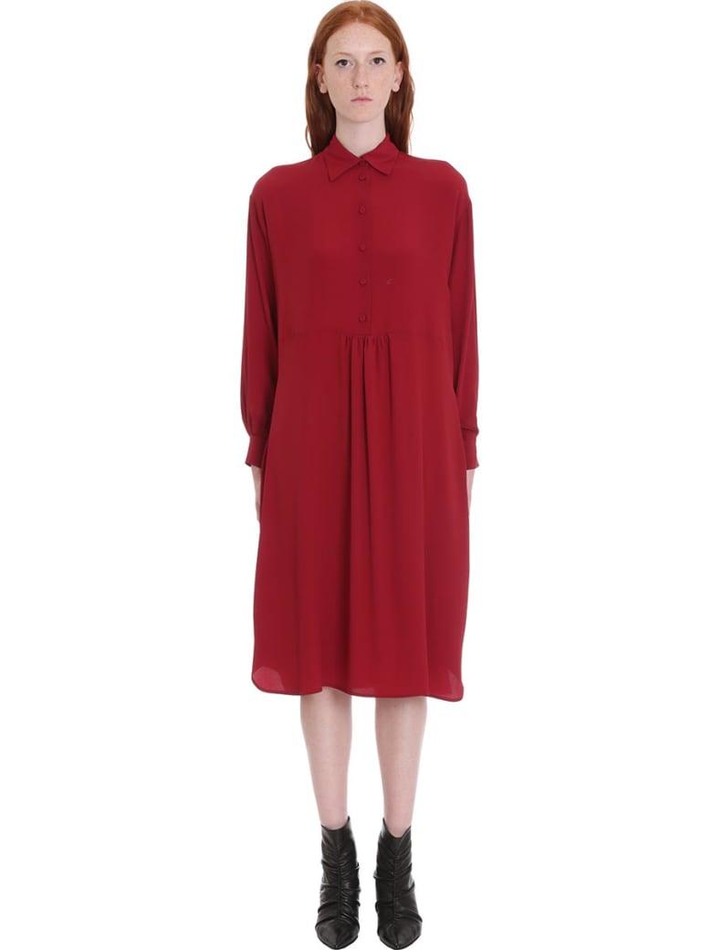 Mauro Grifoni Dress In Bordeaux Tech/synthetic - bordeaux