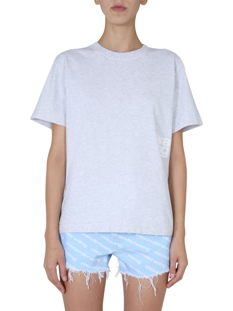 T by Alexander Wang Crew Neck T-shirt - GRIGIO