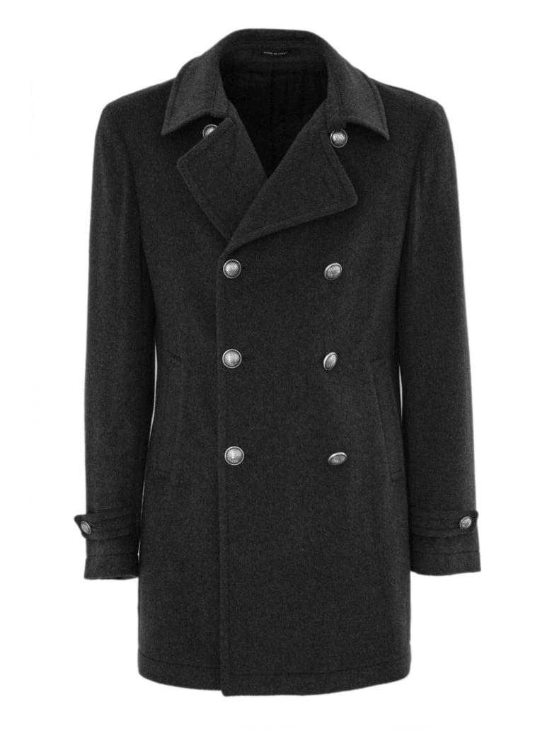 Tagliatore Grey Virgin Wool And Cashmere Coat. - Grigio Scuro