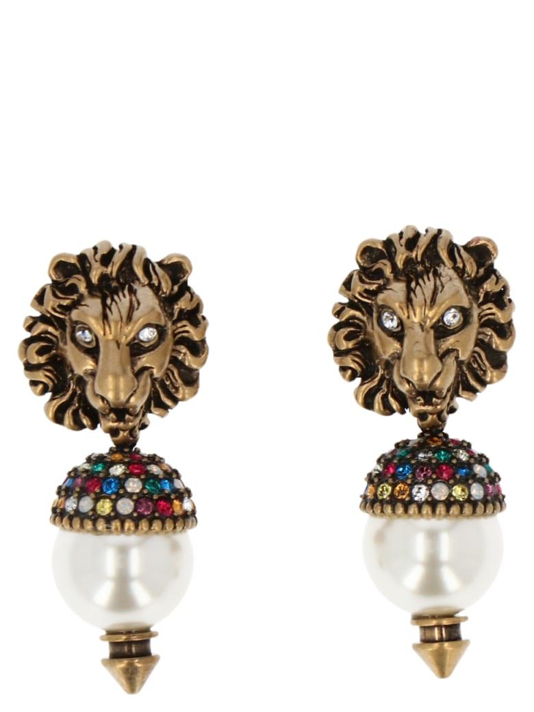 Gucci 'lionhead' Earrings - Multicolor