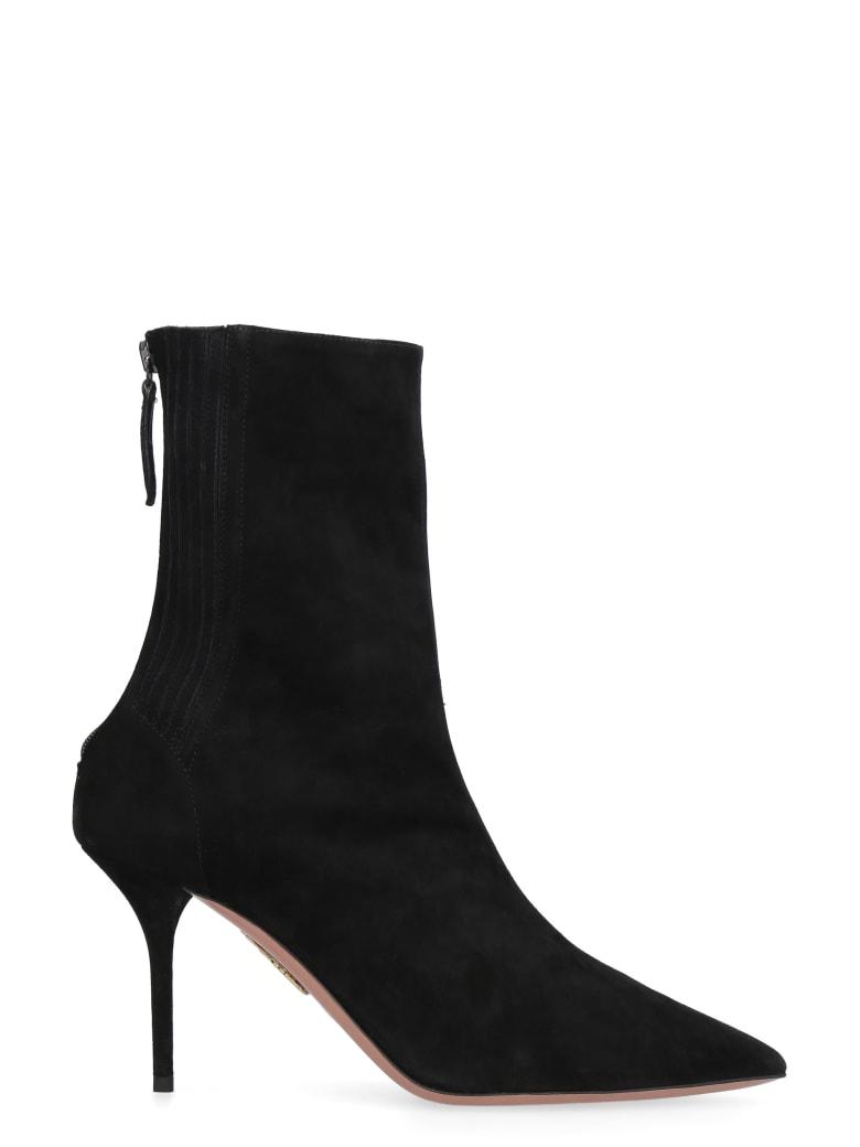 Aquazzura Saint Honoré Suede Ankle-boots - black