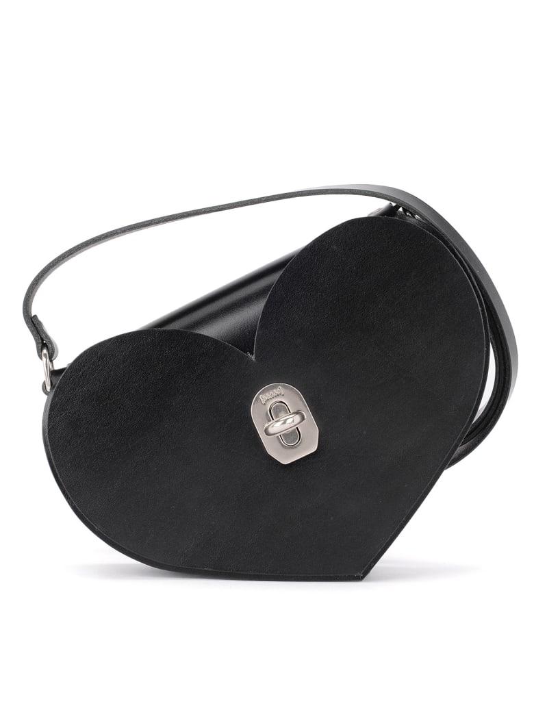 Niels Peeraer Borsa Niels Peeraer Heart Black Leather - NERO