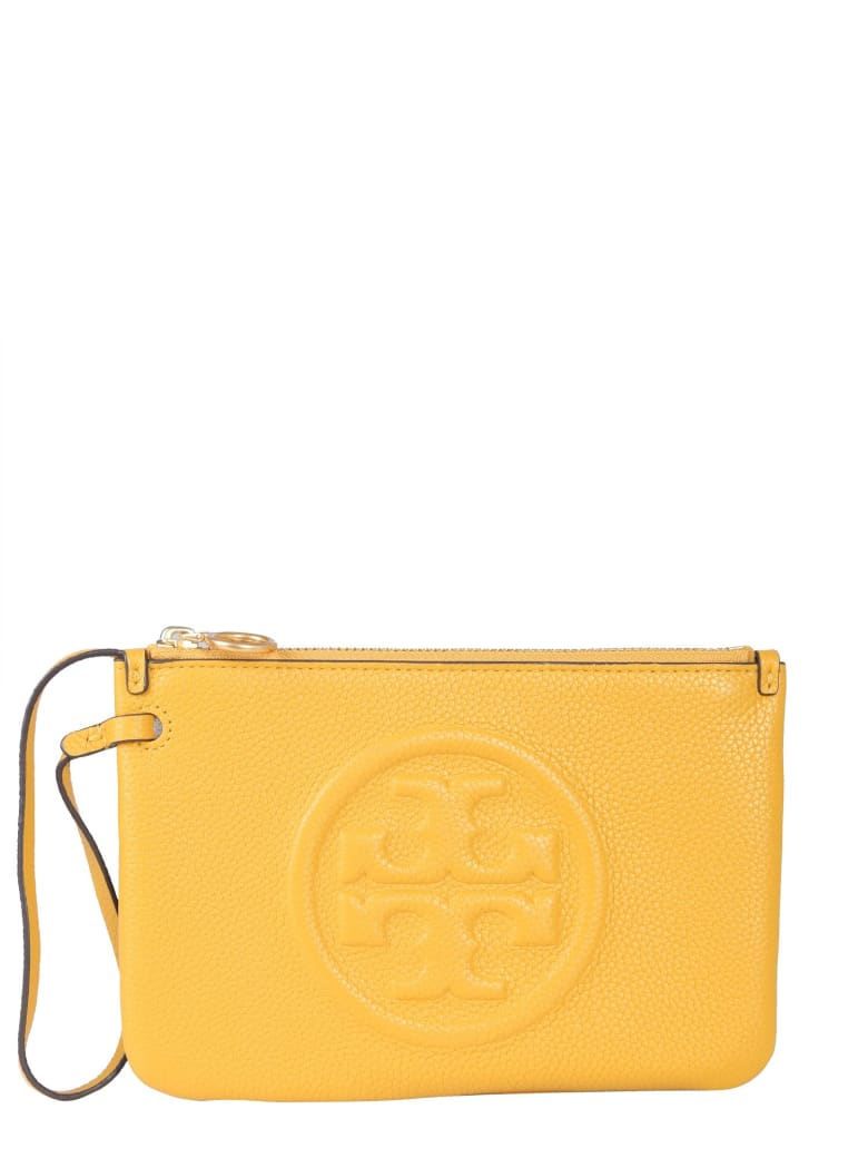 Tory Burch Perry Bombe Clutch - GIALLO