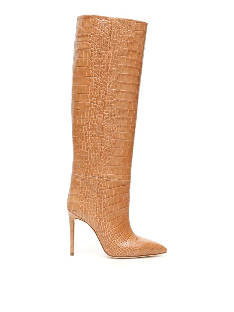 Paris Texas Python-print Boots - BEIGE (Beige)