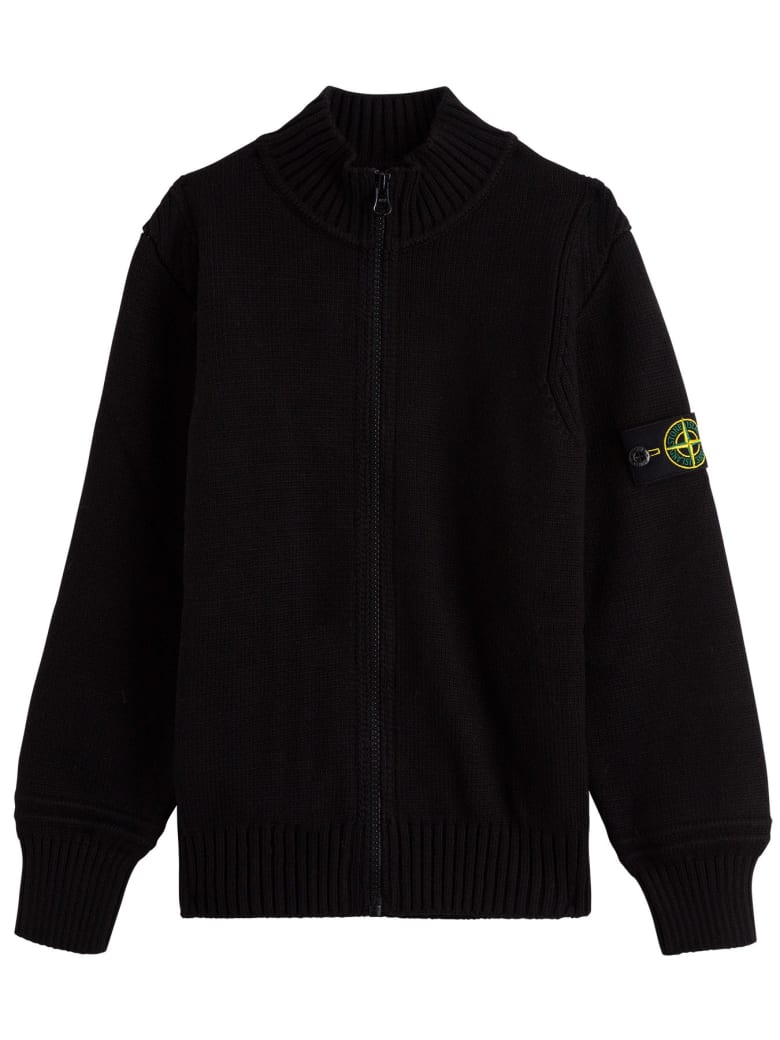 Stone Island Junior Cotton Blend Sweatshirt - Black