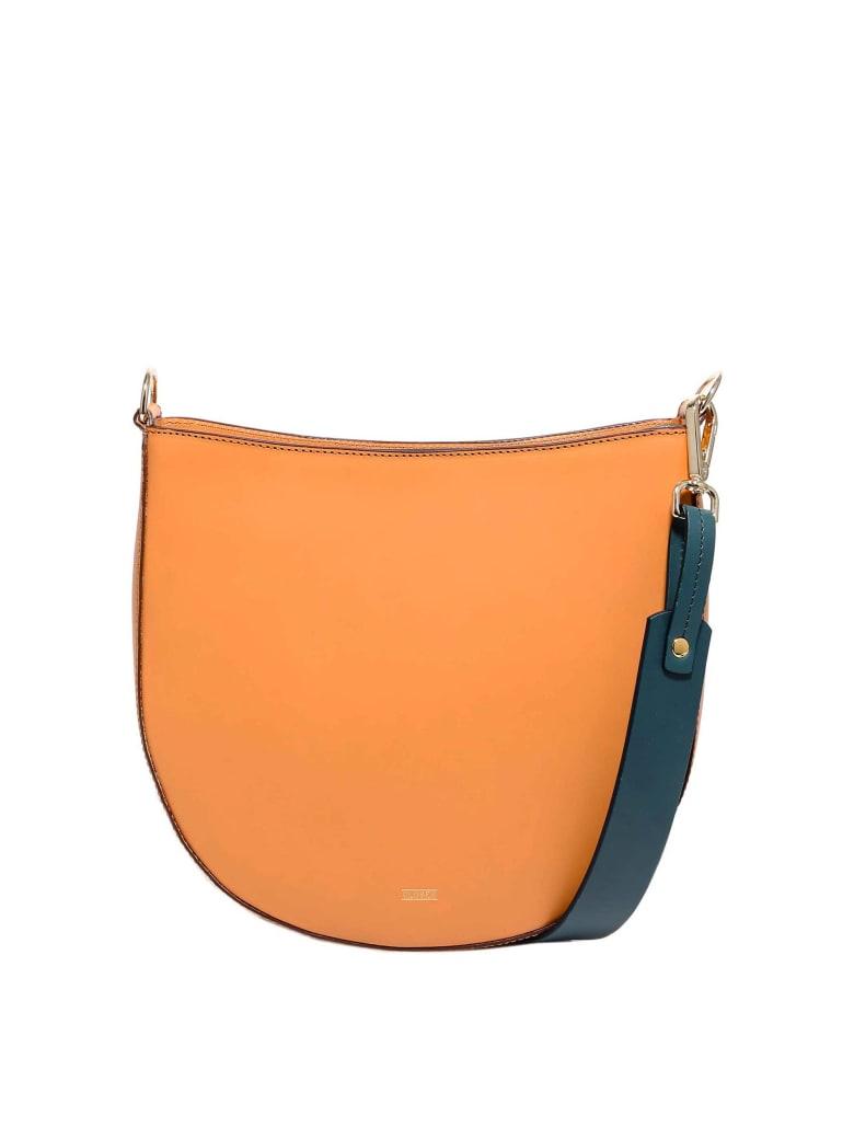 Closed Colour Block Bag Medium Shoulder Bag - Brown