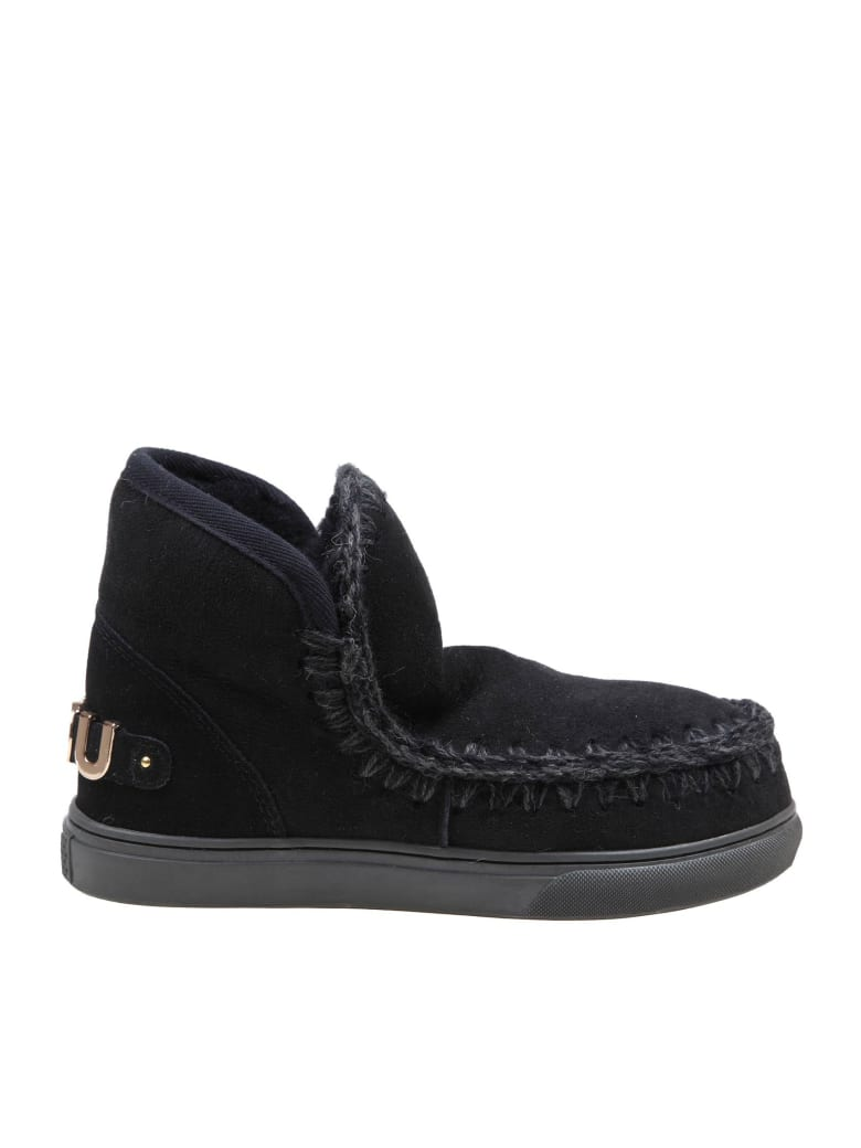 Mou Sneakers Eskimo In Suede Colore Nero - Black