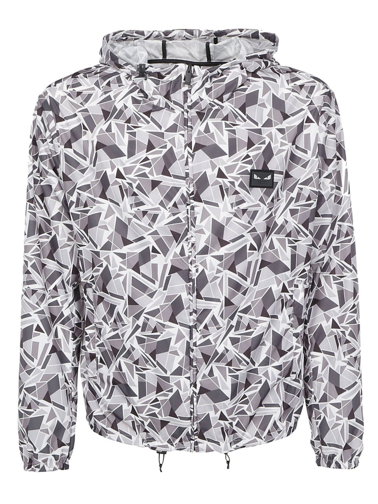 Fendi Jacket - Grey/black/white